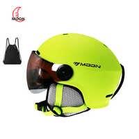 Casque de Ski avec lunettes MOON 2019 intégré protection complète pour femmes ski snowboard casque casque de ski a43