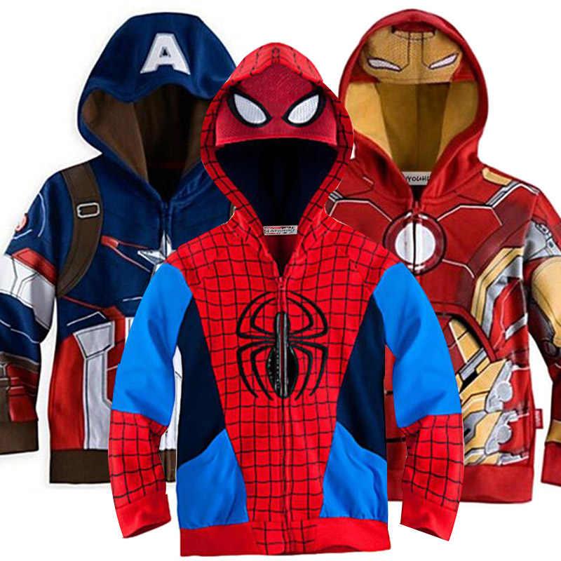 Niemowlę dziewczynki płaszcz jesień wiosna Boys Baby kurtki dla chłopców płaszcz dzieci Spiderman kurtka z kapturem ubrania dla dzieci 3 4 6 8 10 rok
