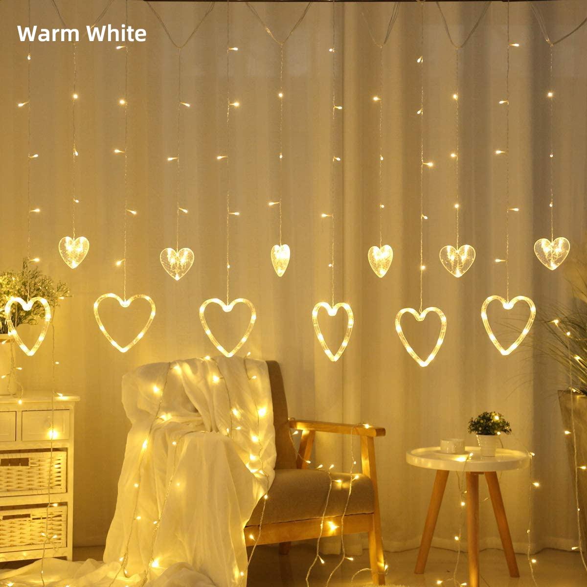 Рождественская USB + батарея/220 В занавеска в форме сердца 2x1,5 м сказочные огни занавески для гостиной светодиодный ные декоративные для спаль...