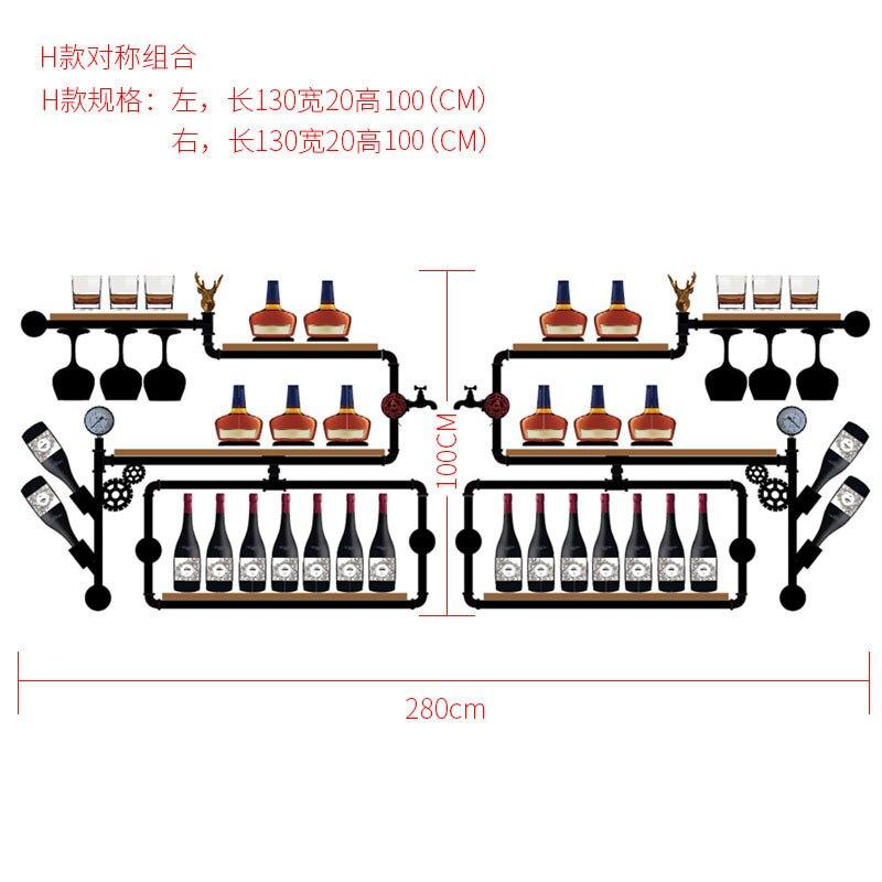 CF3 European-style Wine Rack Wine Bottle Display Stand Rack Organizer Metal & Wall Mounted Whisky Bottle