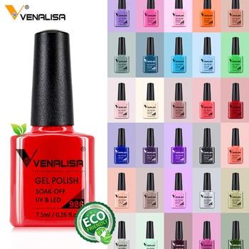 Venalisa 7.5ml Nail Gel Polish 60 Colors Free Shipping Top Sell For Nail Art Manicure Top Coat Soak Off Enamel UV Gel Varnish 1