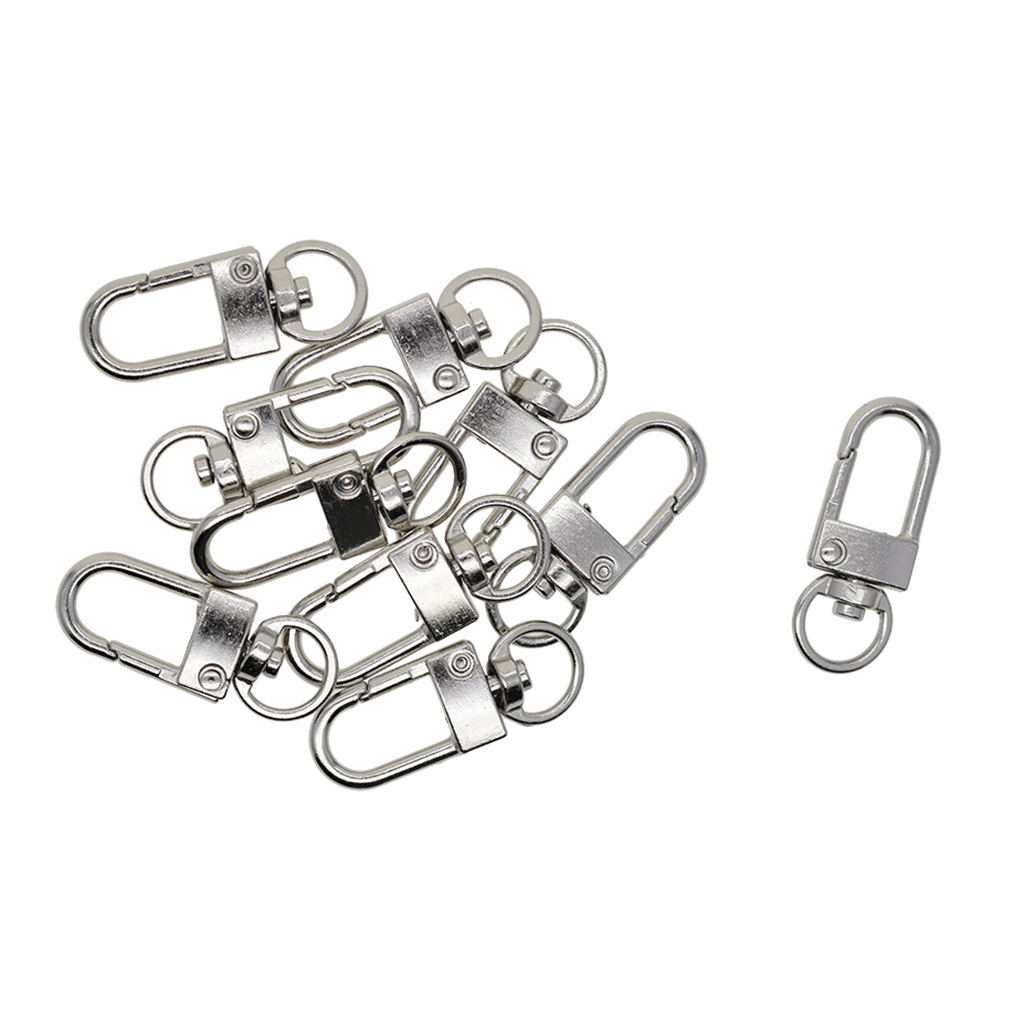 Lobster Clasp Small-Sized Keychain Lanyard Clips Lobster Claw Clasp for Key Ring 100-Piece Swivel Snap Hooks