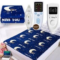Электрическое фланелевое одеяло, Электрический матрас, толстое одеяло с подогревом, Электрический коврик, подогреватель тела