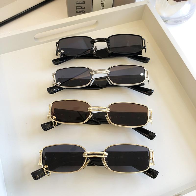 2020 солнцезащитные очки звезды в том же стиле ношения серьги маленькая коробка солнцезащитные очки уличная фотография тренд крутая мода пут...