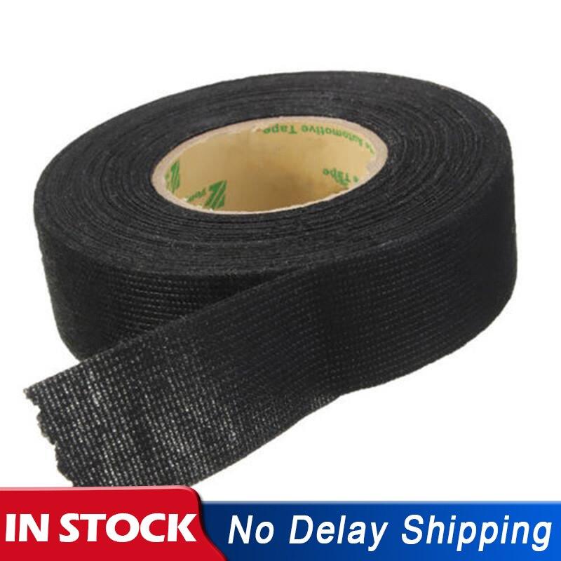 1 Roll 15M X 19mm 2018 Newest Car Wiring Harness Tape Black Flannel Adhesive Felt Tape Cloth Fabric Tape Self Adhesive Felt Tape