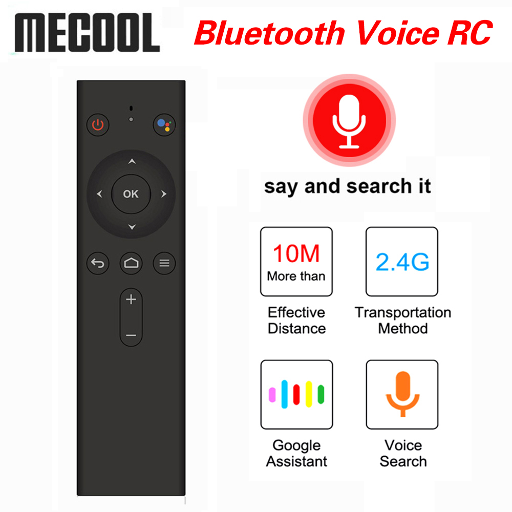 MECOOL Bluetooth Voice Remote Control Wireless Mini Keyboard Air Mouse fly for Android TV Box KM3 ATV KM9 PRO Remote Controller
