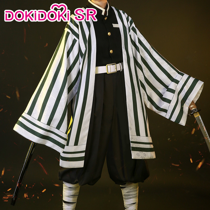 DokiDoki-SR Anime Cosplay Demon Slayer: Kimetsu No Yaiba Cosplay Iguro Obanai Costume Kimetsu No Yaiba Costume Men  Iguro Obanai