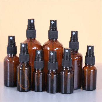 Portable Amber Glass Essential Oil Spray Bottles Transparent Brown Travel Refillable Bottle Mist Sprayer brown glass spray bottles premium 2 x 500 ml amber glass spray bottle with fine trigger for spraying and airtight lids