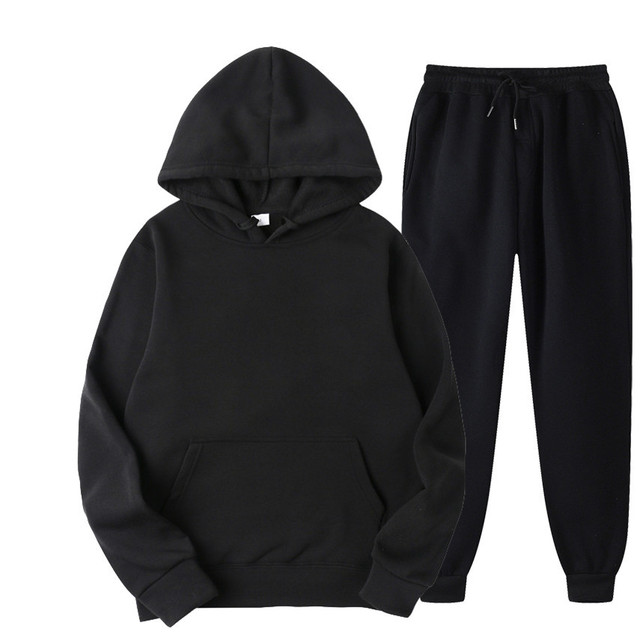 BOLUBAO Brand Men Sports Casual Sets New Men's Hoodies + Pants Two-Piece Suit Tracksuit Fashion Solid Color Sets Male 3