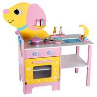 Simulation Pretend Play Puppy Kitchen Stovetop Kitchenware Oven Set Girl Interactive Educational Toys for Kids Birthday Gifts