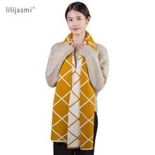 Unisex 180*30cm Cashmere Wool Blend Knit Scarf 2 Side 2 Tones Crosswire Women Scarves Long Wool Solid Winter Men Scarf Couples цена и фото