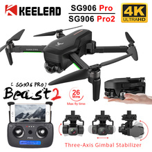KEELEAD SG906 Pro Pro2 Drone Quadcopter with HD Camera 4K GPS 5G WIFI 2 3 Axis Anti Shake Gimbal Professional Brushless RC Dron