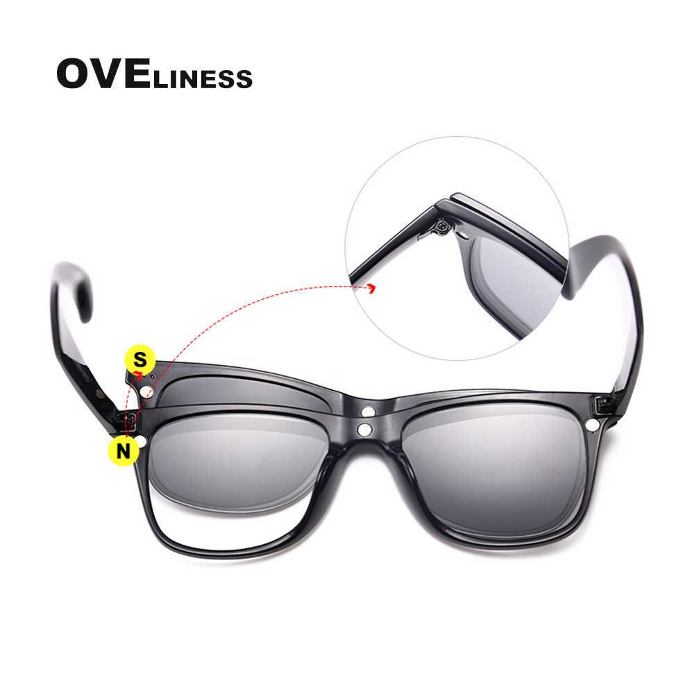 البصرية الرجعية النظارات الإطار الرجال النساء المغناطيس الاستقطاب كليب على المغناطيسي النظارات الشمسية النظارات قصر النظر وصفة طبية إطارات النظارات