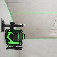 Лазерный нивелир, 12 линий, 3D, самонивелирующийся, 360, горизонтальный и вертикальный крест, супер мощный зеленый лазерный луч, линия для внутреннего и наружного применения