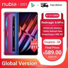 Nubia Red Magic 6/6 Pro Global Versie Gaming Smartphone Redmagic 5G Game Mobiele Telefoon 165Hz Amoled Snapdragon 888 google Play