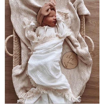 Infant Organic Cotton Wrap Newborn Lace Gauze Swaddle Wrap Children 120*120CM Muslin Summer Blanket Baby Photography blankets new organic cotton newborn swaddle blanket hats baby swaddle set blanket wrap with cap for 0 6 months baby photography props