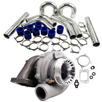 GT3582R GT35 GT3582 Turbo For Ford Falcon BA BF XR6 & 76mm Intercooler Pipe Kit 4/6 cylinder for 3.0 6.0L engines A/R .70