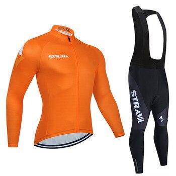 2019 strava outono manga longa camisa de ciclismo conjunto bib calças ropa ciclismo roupas de bicicleta mtb camisa uniforme roupas masculinas 7