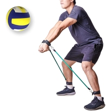 Volleyball Training Aid Latex Resistance Band Elastic Rope Tension Loop Belt Set