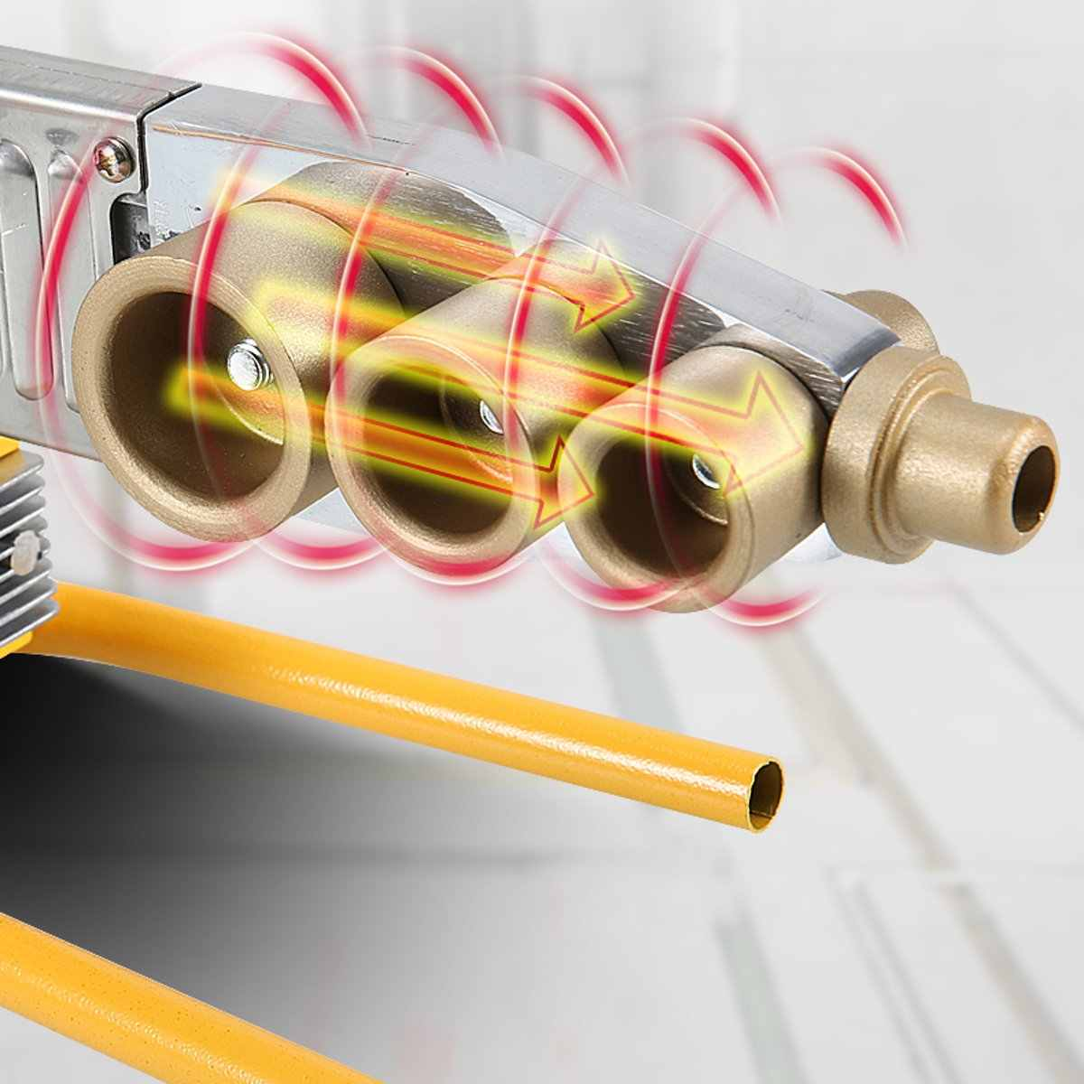 Cabeças de ferramenta de aquecimento da máquina de soldadura da tubulação elétrica conjunto para o pe ppr pb tubo plástico ppr máquina de solda quente do derretimento controle temperatura