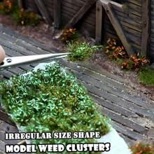 Escena de simulación hecha a mano, modelo de escala de arbusto simulado, hierba, césped, aguja, modelo de césped, DIY, materiales de construcción, casa de muñecas