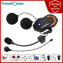 Freedconn T MAX E interkom motocyklowy zestaw słuchawkowy Bluetooth do kasku motocykl 6 zawodników grupa rozmowa Radio FM wersja 4.1 domofon