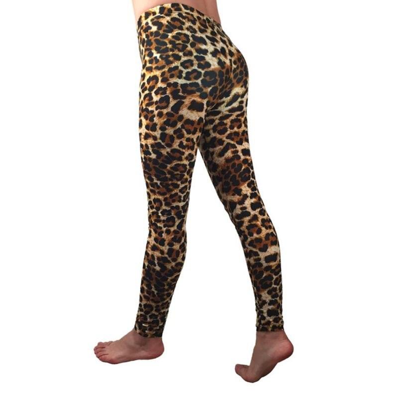 Pants Women Autumn Winter Milk Silk Skinny Pants  Stretch Leggings Stretchy Elastic Cropped Leopard Pants Pantalones Mujer*