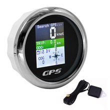 Boat Car GPS Speedometer With GPS Antenna For Motor Yacht TFT Screen Waterproof Odometer Adjustable Trip ODO COG Voltmeter 9-32V