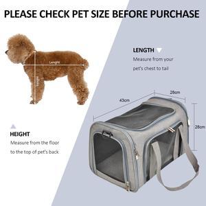Image 5 - 犬のキャリアバッグポータブルペットのバックパックメッセンジャー猫キャリア発信小型犬旅行バッグソフト側の通気性メッシュ