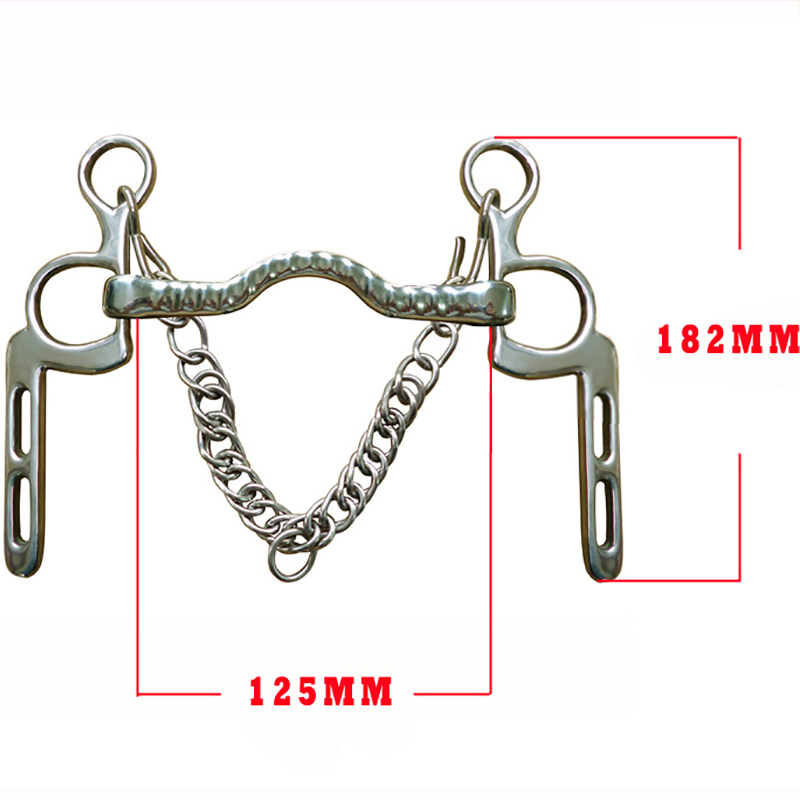 125MM Horse Bits Stainless Steel Equestrian Mouthpiece Snaffle For Horse Riding Racing Halters Bit Equipment