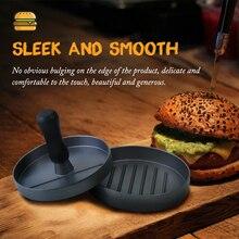 Дамасский пресс для фарша из нержавеющей стали, круглая форма, мясо для гамбургеров, пресс, антипригарная Высококачественная форма для выпечки, кухонный инструмент