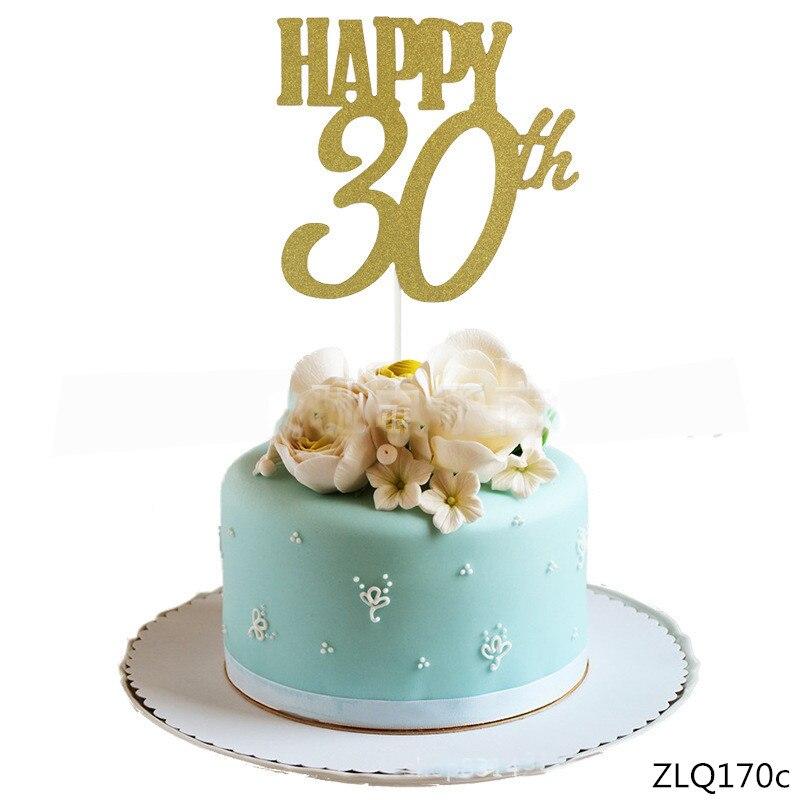 Personalizado 20TH aniversario Brillo Cake Topper cualquier ocasión//Decoración De Pasteles