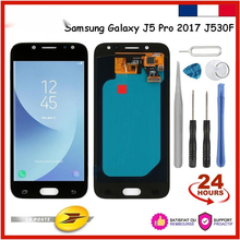 Adjustable Brightness For samsung galaxy J5  J530 J530F SM-J530F LCD Display + Touch Glass And Tools For Reparing