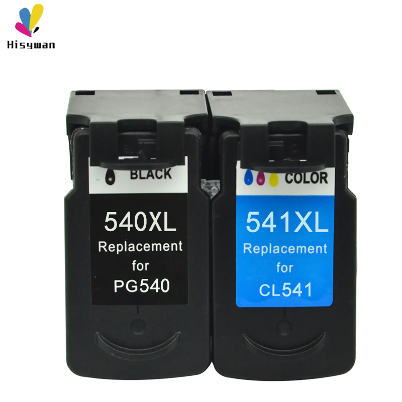 Hisywan PG540 CL541 Ink Cartridge For Canon PG 540  PG540XL PIXMA MG3150 MG3250 MG4100 MG2150 MG4250 MG415