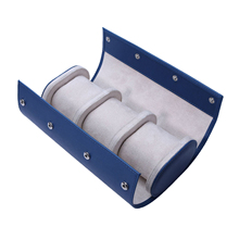 Portable 3Slot Watch Roll Organizer Travel Collector Holder Accessories Blue