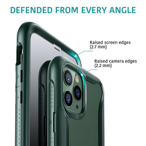 Image 3 - ESR étui de téléphone pour iPhone 11 Pro Max luxe mat étui pare chocs pour iPhone X couverture complète antichoc souple en Silicone étui Funda