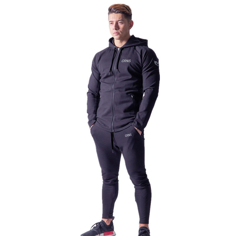 2019 Man Sports Suit Perspiration Fitness Training Running Male Sportswear Jogging Running Sets Men High Quality Clothes