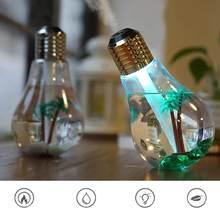 Home Office lampa kolorowa żarówka nawilżacz powietrza ultradźwiękowy USB 400ML dyfuzor olejków eterycznych Atomizer odświeżacz Mist Maker