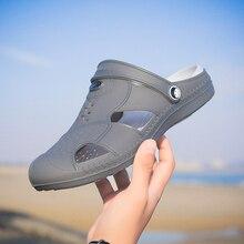 Оригинальные новые садовые Вьетнамки; водонепроницаемая обувь; Мужская теннисная обувь на плоской подошве; летние пляжные шлепанцы; прогулочные сандалии для плавания; садовая обувь