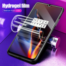 10D Hydrogel Film For OnePLus 6T 7 Pro Full Cover Soft Front Screen Protector Film For OnePlus 6 T 7 One plus 6 7 Pro Not Glass все цены