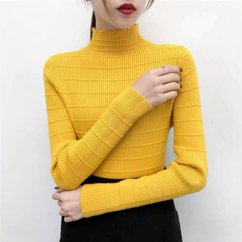 BEFORW Casual Turtleneck Sweaters Women Pullover Fashion Woman Knitted Solid Sweater Tops