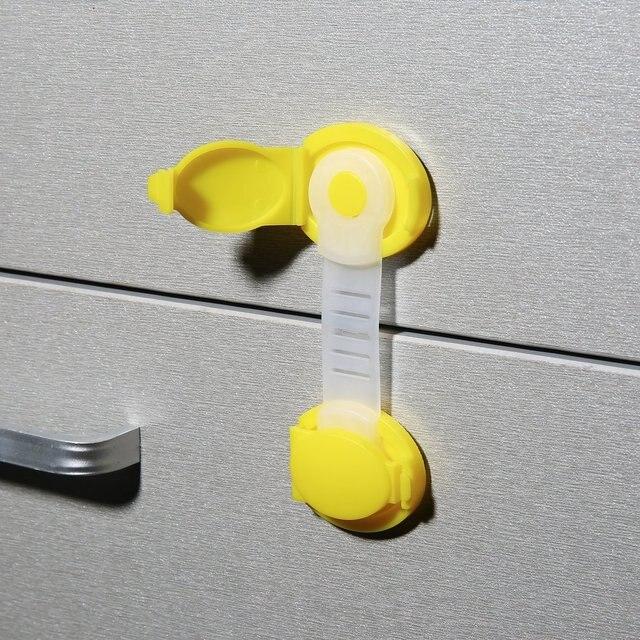 1PC enfants bébé soins sécurité serrures armoire porte tiroirs réfrigérateur toilettes bloqueurs sécurité en plastique enfants Protection serrure chaude