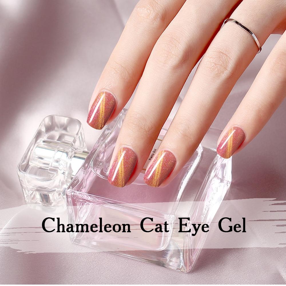 arte magnética 15ml 3d gato olhos colorido