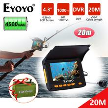 Infrared-Lamp-Camera 1000tvl-Screen Eyoyo Underwater EF05PRO for Fishing 8500mah-Battery/ice-Fis