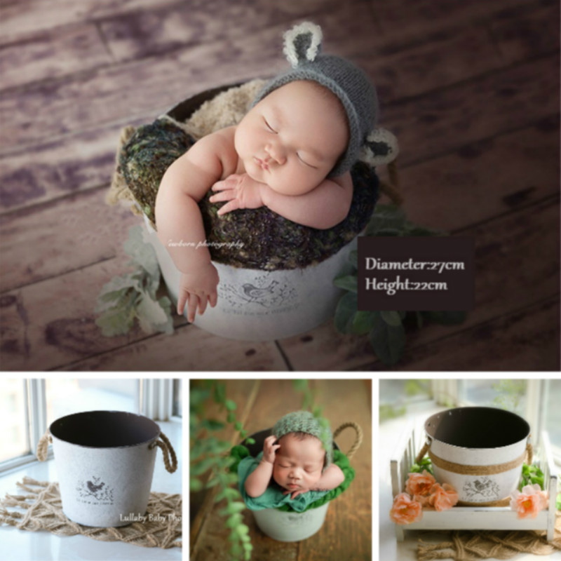 Newborn Photography Props Baby Posing Container Big Posing Props Infant Shoot Accessories Newborn Photo Bucket Creative Props