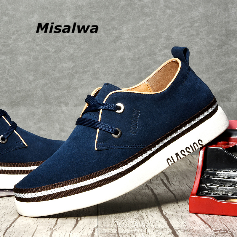 Misalwa Man Casual Cow Suede Footwear Man Elevator Shoes Invisible Height Increase Coffee Brown 38-43  Men Shoes Luxury Brand