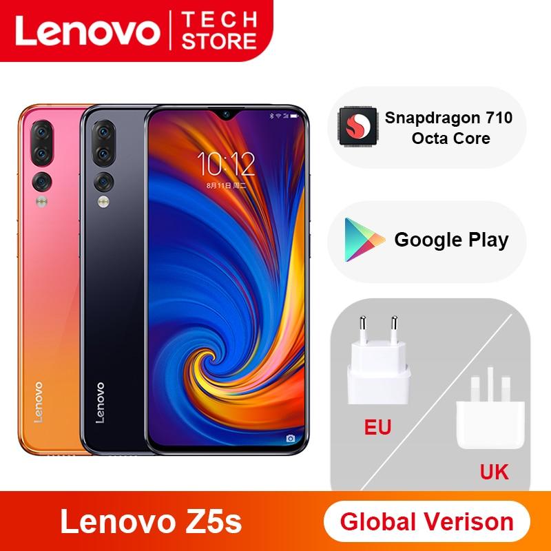 Lenovo Z5s смартфон с 6,3-дюймовым дисплеем, восьмиядерным процессором Snapdragon 710, ОЗУ 6 ГБ, ПЗУ 64 ГБ, Android P