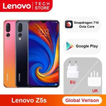 Original versión Global Lenovo Z5s 6GB 64GB Snapdragon 710 Octa Core Smartphone 6,3 pulgadas AI Triple cámara trasera Android P Face ID