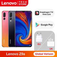 Version mondiale originale Lenovo Z5s 6GB 64GB Snapdragon 710 Octa Core Smartphone 6.3 pouces AI Triple caméra arrière Android P Face ID