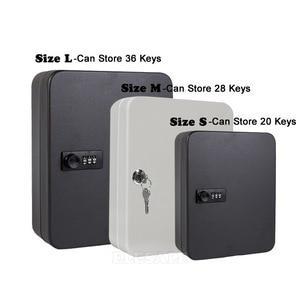 Image 2 - New Multi Keys Safe Storage Box Combination/Key Lock Spare Car Keys Organizer Box For Home Office Factory Store Use